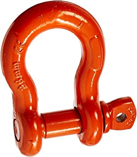 CM M654P Super Strong Anchor Shackle with Orange Powder Coated Screw Pin, 10 Ton Work Load Limit, 1