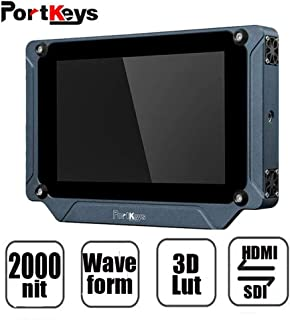 "PortKeys BM7 Camera Monitor 7"" 2000nit HDMI/3G-SDI Full HD On-Camera Field Monitor with 3D LUT and HDR Preview,Video Monitor for Sony A6500,A7 Canon 5D,1DX Mark Series Nikon D3500,Panasonic GH4(Black)"