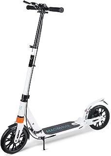 "Macwheel Foldable Aluminum Height Adjustable Kick Scooter, Disc Brake | Rear Fender Brake | Dual Suspension | 8"" PU Wheels | Portable Kick Scooter Best for Teens and Adults (MK3)"