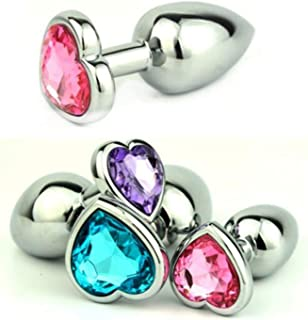 Russian Warehouse Small Size Heart Shaped Stainless Steel TIef1pt-AU-Toy-TJ45694 Crystal Jewelry Butt Plug Âna④l Balls Gs0206