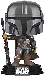 Funko Pop! Star Wars: El Mandalorian - Mandalorian (cromo), Exclusivo de Amazon, Multicolor