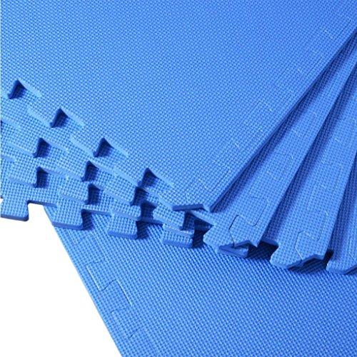 HS-Lighting Juego de 8 esterillas de puzzle (60 x 60 x 1,2 cm), color azul