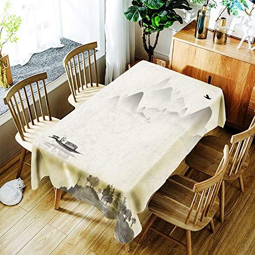 YUEMI Mantel Simple Y Moderno Poliéster Impresión Digital Mantel Rectangular Contaminación por Polvo Mantel Polivalente Adecuado para Interior Y Exterior Manteles 140x140cm