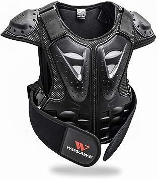 Wosawe Kinder Motorradjacke Setzt Atmungsaktiv Weste Schutz 3d Gepolstert Protektorhose Für Radsport Roller Skating Motorrad Sport Weste M Auto