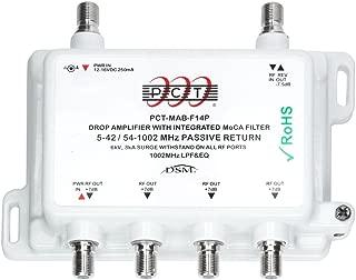 PCT INTL PCT-MAB-F14P RF MoCA 4 Port CATV Drop Amplifier with Passive Return (Works with Verizon FiOS)