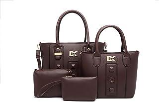 Diana Korr Women's Shoulder Bag with Handbag (Coffy) (Set of 4)