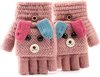 Winter Warm Children Flip Gloves Kids Fingerless Gloves Boys Girls Touch Screen Sports Gloves for Cycling Camping Hiking F...