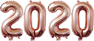 Amosfun Number Foil Balloons Aluminum Mylar Balloons 2020 Graduation Decorations New Year Eve Festival Party Supplies