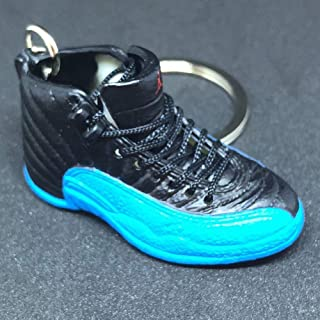 Air Jordan XII 12 Retro Gamma Blue Black OG Sneakers Shoes 3D Keychain 1:6 Figure