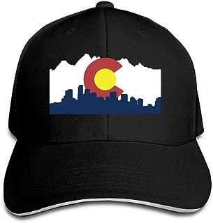 Colorado Denver Skyline Adjustable Trucker Caps Unisex Sandwich Hats