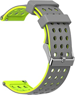 Moretek 18mm 20mm 22mm Width Quick Release Watch Band Lightweight Silicone Perforations Breathability Strap