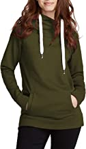 Cutiefox Womens Cowl Neck Pullover Drawstring Hoodie Sweatshirt with Pocket