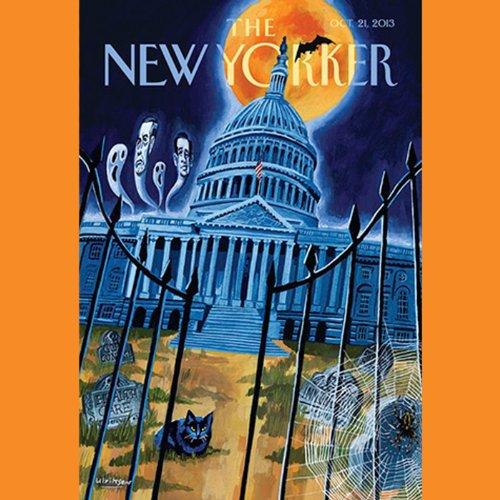 The New Yorker, October 21, 2013 (Hendrik Hertzberg, Lizzie Widdicombe, Ari Shavit) cover art