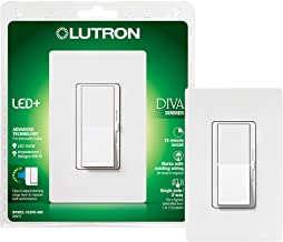 Lutron Diva LED+ Dimmer for Dimmable LED, Halogen and Incandescent Bulbs with Wallplate | Single-Pole or 3-Way | DVWCL-153...