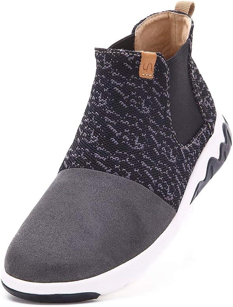 期間限定 UIN Women's Men スピード対応 全国送料無料 Knit High Fashion Sneaker Walking Microfiber Top