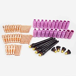 Warrior 68pcs TIG Torch Consumables Accessories KIT for TIG Welding Torch PTA DB SR WP 17 18 26 Free Shipping