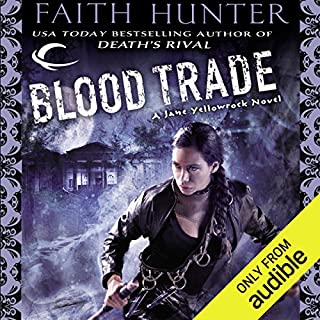 Blood Trade     Jane Yellowrock, Book 6              Written by:                                                                                                                                 Faith Hunter                               Narrated by:                                                                                                                                 Khristine Hvam                      Length: 14 hrs and 57 mins     2 ratings     Overall 5.0