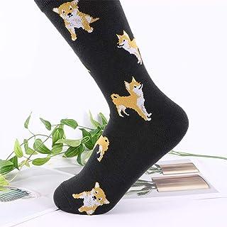 Deanyi Kawaii Mujeres Calcetines Lindos de la Historieta Kawai peinadas Patrón Calcetines de algodón Mujeres Divertidas de Shiba Inu Perro del Corgi Animal calcetín Casual para Mujeres de la Muchacha