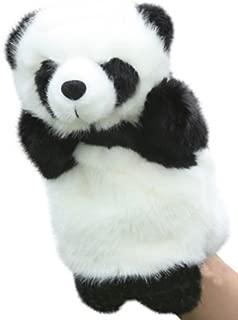 しあわせ倉庫 アニマル パペット ぬいぐるみ 人形 動物 オオカミ うさぎ など (パンダ)