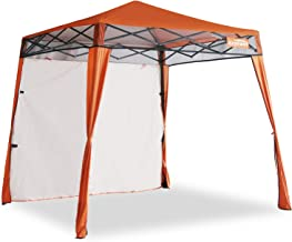EzyFast Elegant Pop Up Beach Shelter, Compact Instant Canopy Tent, Portable Sports Cabana, 7.5 x 7.5 ft Base / 6 x 6 ft top for Hiking, Camping, Fishing, Picnic, Family Outings (Orange)