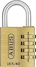 ABUS Cijferslot 165/40 - hangslot van messing - met individueel instelbare cijfercode - 35020 - niveau 4 - messingkleuren