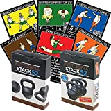Stack 52 Kettlebell Exercise Cards Duo Pack. Kettlebell Workout Playing Card Game. Video...