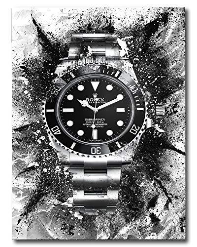 Rolex Submariner - Decorazione artistica da parete per ufficio e imprenditore, 28 X 40 INCHES