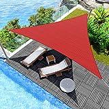Windscreen4less 16' x 16' x 16' Sun Shade Sail Canopy in Bright Red...