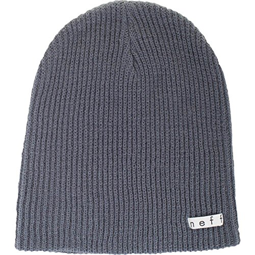 Neff Unisex Daily Beanie, Warm, Slouchy, Soft Headwear, Charcoal, One Size