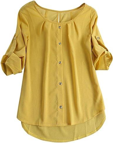 Camisa Irregular Mujer, Blusa Superior Irregular de la ...