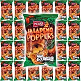 HERR'S Jalapeno Poppers Flavored Cheese Curls, Gluten-Free, 1oz Bag (Pack of 24, Total of 24 Oz)