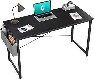 "Cubiker Writing میز کامپیوتر 39 ""میز مطالعه دفتر کار خانگی ، میز لپ تاپ سبک ساده مدرن با کیف ذخیره سازی ، سیاه"