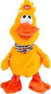 Baby Kids Stuffed Plush Toys Musical Singing Dancing Duck Small Electronic Animal Toys(Yellow)