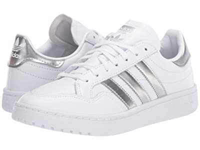 adidas Originals Team Court (Footwear White/Silver Metallic/Footwear White) Women