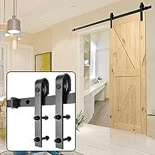 U-MAX 6.6 FT Sliding Barn Wood Door Basic Sliding Track Hardware Kit (Basic