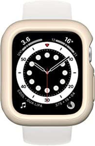 RhinoShield Bumper Case Compatible with Apple Watch SE & Series 6/5 / 4 - [40mm]   Slim Protective Cover, Lightweight and Shock Absorbent - Sand Beige