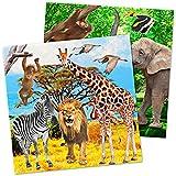 Folat NEU Servietten Safari Party, ca.33x33 cm, 20 Stück