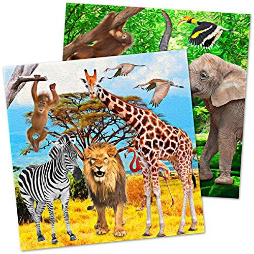 Serviettes de Fête Safari 20 Pièces