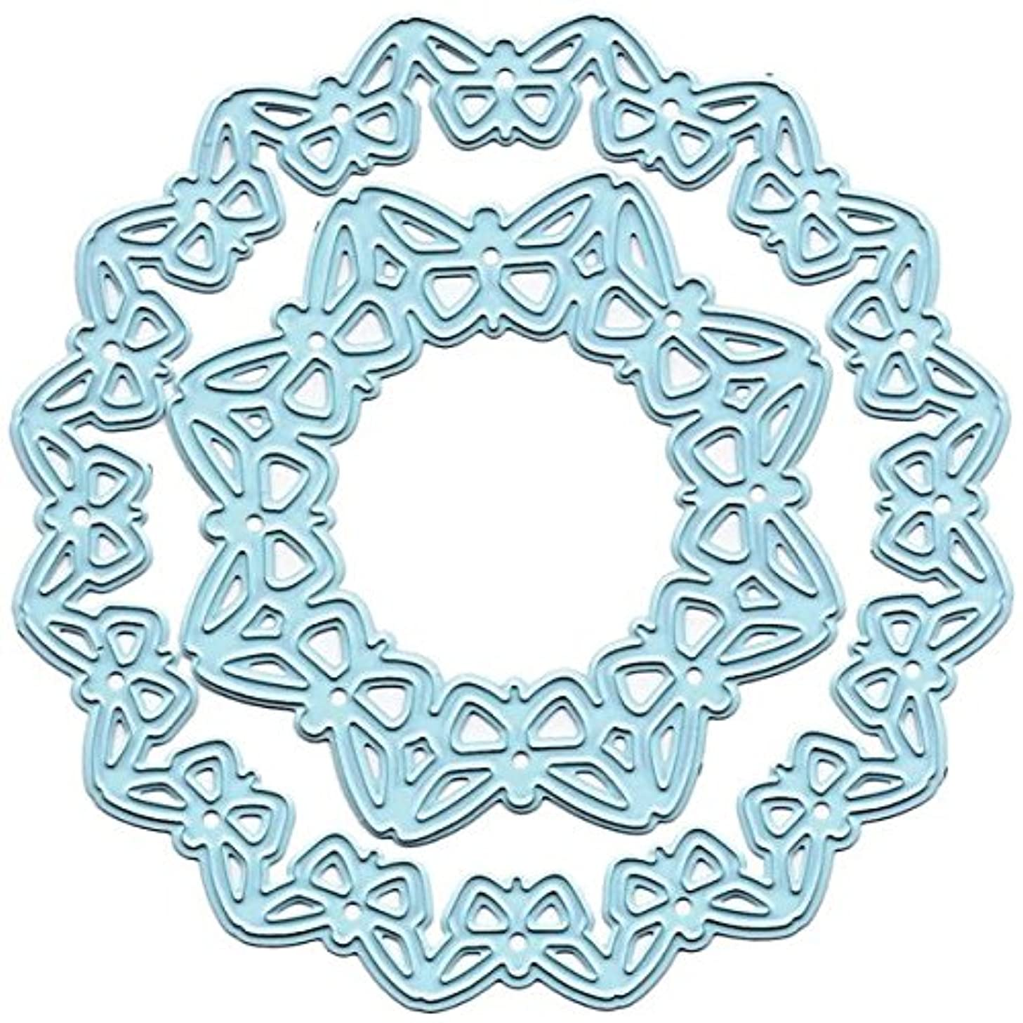 Ecstasy Crafts Joy! Crafts Cut and Emboss Dies, Butterfly Circle, Inner 3-Inch and Outer 4-Inch