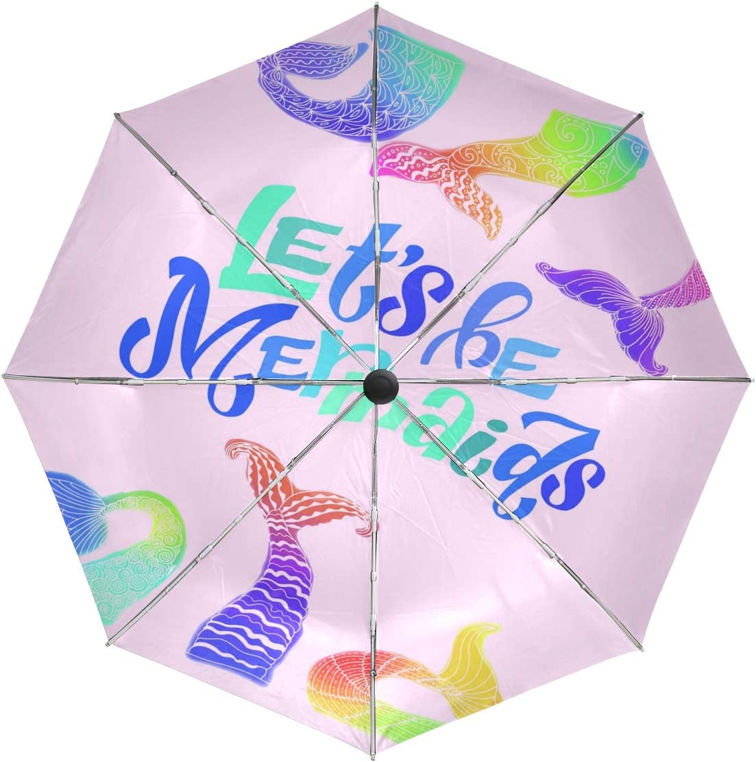 Wamika Soldering Automatic Umbrella Free shipping anywhere in the nation Funny Tail Mermaids Windproof Cartoon