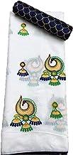 TRIPZIRA Women's Self Designed Chanderi Cotton Saree With Blouse Piece C.