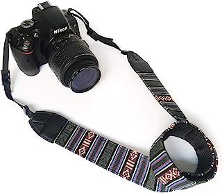 Camera Neck Shoulder Belt Strap,Alled Leather Vintage Print Soft Camera Straps for Women/Men for DSLR/SLR/Nikon/Canon/Sony...