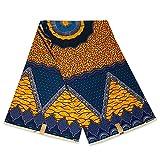 Afrikanischer Stoff, blau-gelb, Geschichte, Wachstuch –