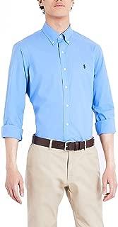 Mens Slim Fit Stretch Sport Button Up Shirt