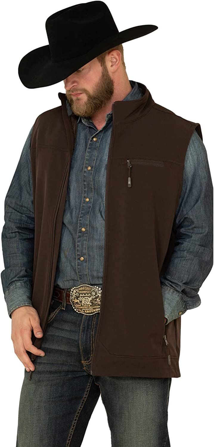 Cody James Men's Core Wrightwood Zip Front Vest Tall Brown X-Large Tall