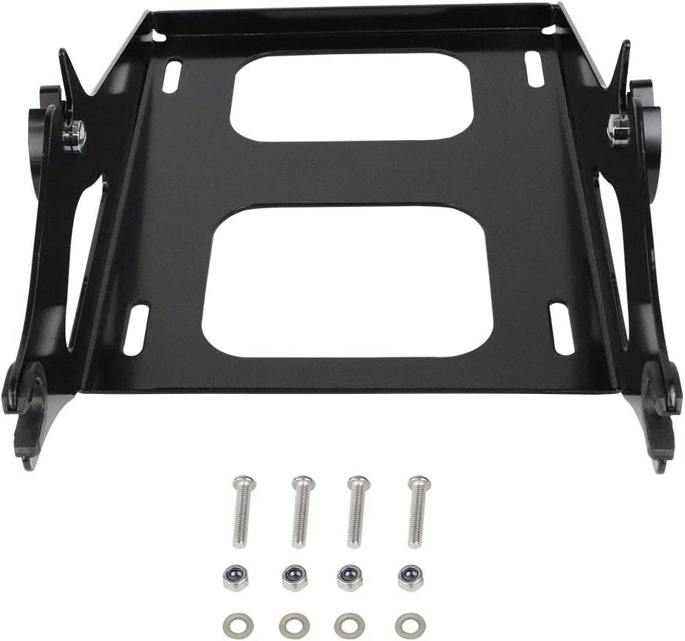 AUFER Black Two Up Mounting Luggage Rack Fits For Touring Road King Street Glide Road Glide Tour Pak Pack 2014-2020