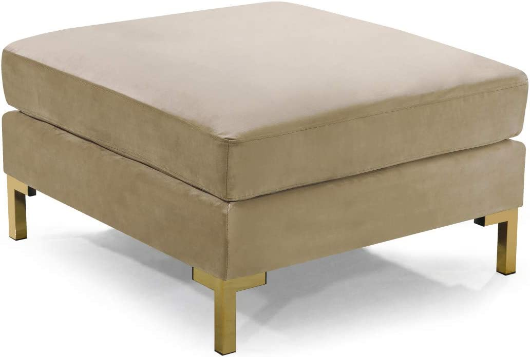 At the price Iconic Home Girardi Modular Chaise Cushion Spring new work one after another Coffee Ottoman Table