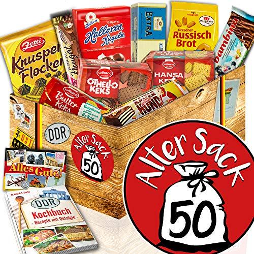 Keks Schachtel / DDR Geschenk / Alter Sack 50 / Geschenkidee Herr 50