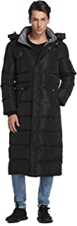 Men's Long Down Coat with Fur Hood Maxi Down Parka Puffer Jacket