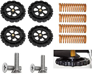 Creality 3D Printer Replacment Parts / 4PCS Upgraded Leveling Nut + 4PCS Hot Bed Spring + 4PCS M4X30 Screws for Ender 3 / Ender 3 Pro/Ender 5/ CR-10/ CR-10S /CR-10 S5